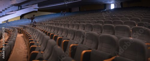 empty auditorium with seats Wallpaper Mural