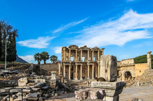 The Facade Of The Library Of Celsus, Reconstructed From Original Pieces