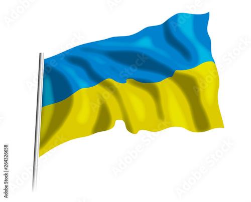 flaga Ukrainy - fototapety na wymiar