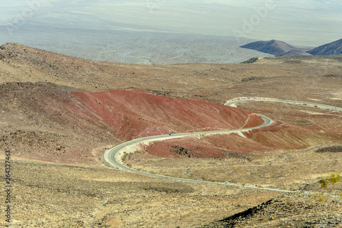 Photo  A view of Surprise Canyon Valley Road from Father Crowley Vista Point in Death V