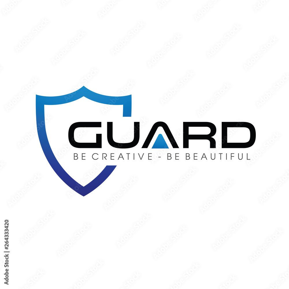 Fototapeta Blue Guard and Shield Logo Vector, Icon