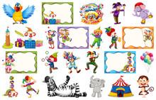 Set Of Circus Frame