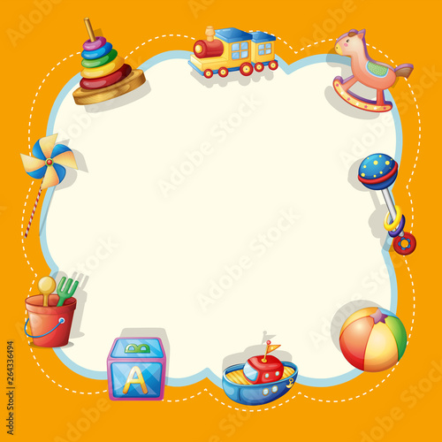 Foto op Plexiglas Kids Object on cute border