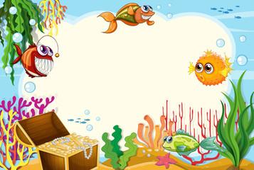Under water template scene