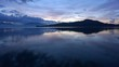 view of lake maggiore italy at sunrise