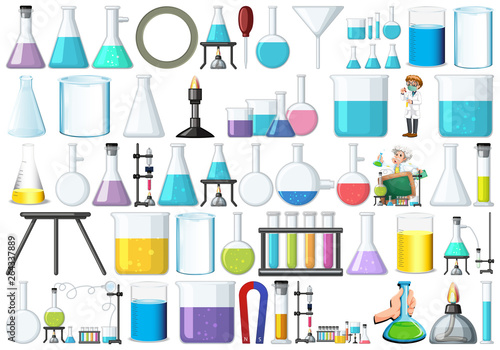 Canvas Prints Kids Set of lab equipment
