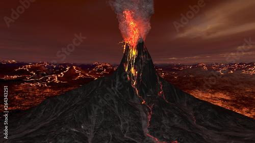 Fotografie, Tablou 火山