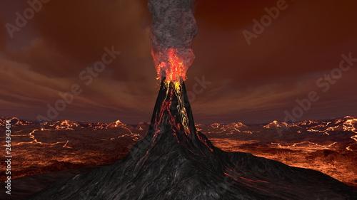 火山 Canvas-taulu