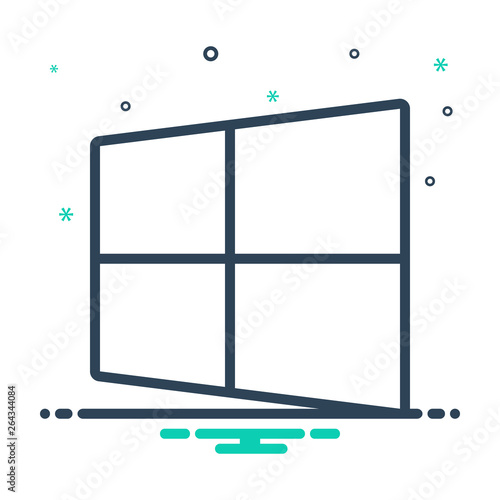 Mix line icon for microsoft software Wallpaper Mural