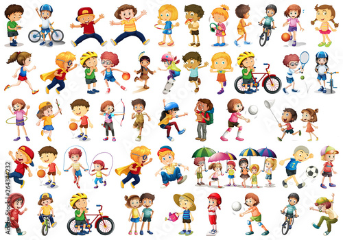 Fotobehang Kids Set of sport kids