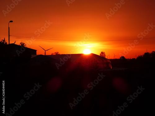 Cadres-photo bureau Brique lever du soleil