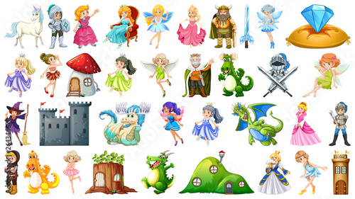 Wall Murals Kids Set of fairy tale character