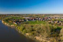 View Over Kastel, A Village In The Hamme Commune, In East Flanders, Belgium