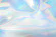 canvas print picture - pastel colored holographic background