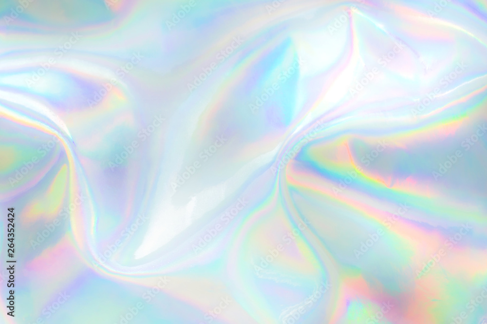 Fototapety, obrazy: Abstract trendy holographic background. Real texture in pale violet, pink and mint colors with scratches and irregularities