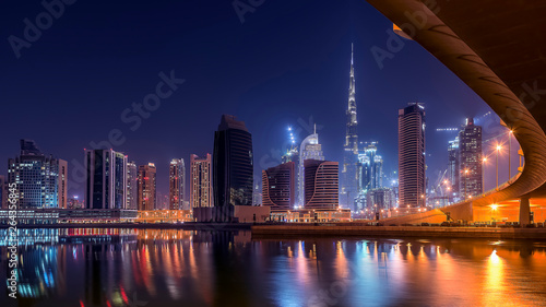 Fototapeta  Dubai cityscape with the tallest building in the world Burj Khalifa