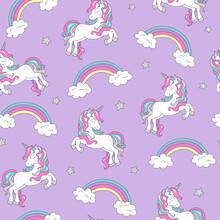 Pattern With Unicorn. Trendy S...