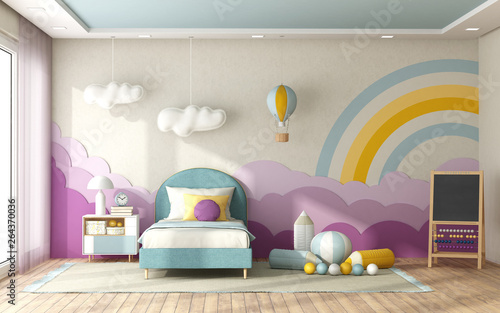 Fototapety, obrazy: Child bedroom with decoration on background wall