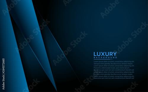 Fényképezés  Modern navy blue background with abstract shape
