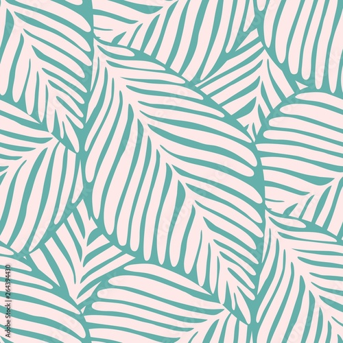 Tapeta do sypialni  abstract-tropic-leaf-seamless-pattern-exotic-plant