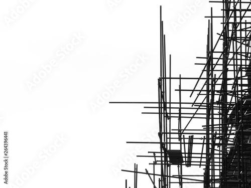 Carta da parati silhouette scaffolding elements black and white