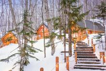 Furano, Hokkaido, Japan Winter Cabins