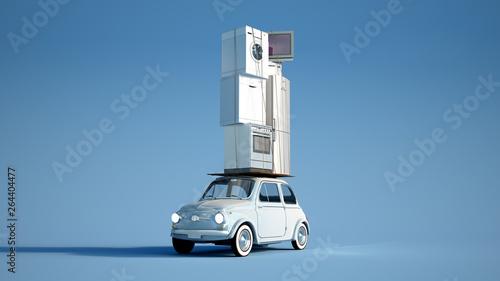 Fotografía  Periliuos appliances delivery blue