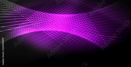 Fototapety, obrazy: Neon color abstract lines