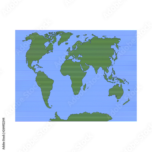 World map  To navigate  Vector illustration  - Buy this