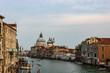 Venice, Italy - 2019. View of the Grand Canal and Basilica Santa Maria della Salute in Venice, Italy.