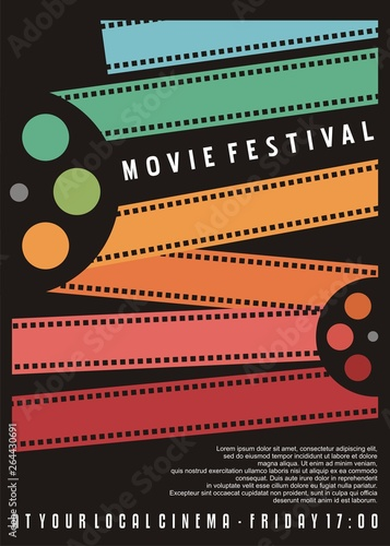 Photo  Movie festival poster design