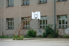 Old Basketball Hoop Is Slowly ...