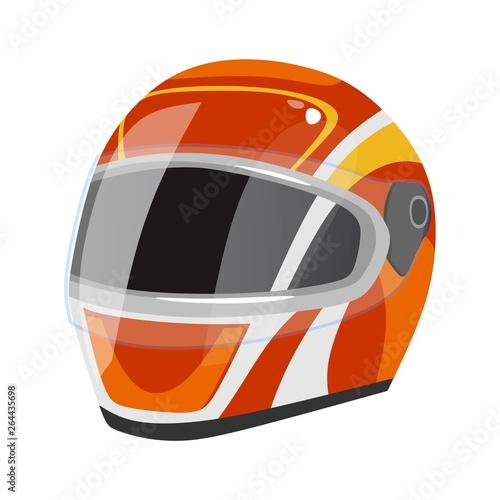 Vászonkép Racing helmet icon isolated on white background