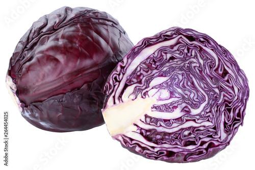 Photo Blaukraut Rotkohl Kraut Kohl frisch Food geschnitten Gemüse Freisteller freigest