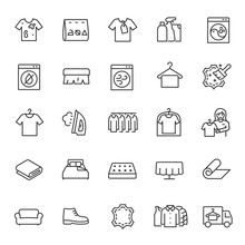 Dry Cleaning Service, Icon Set...