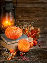 Autumn Still Life. Pumpkins, A...