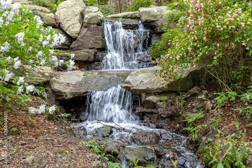 Arkansas Ozark mountain waterfall in spring