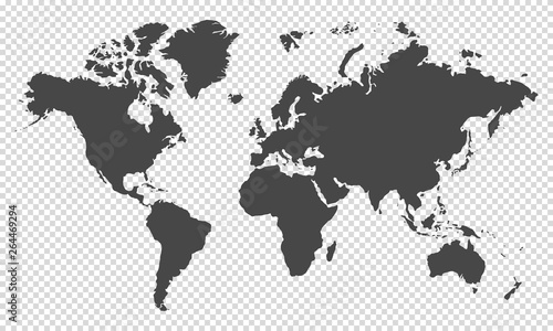 world map on transparent background #264469294