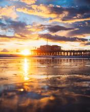 Pier Of The Beach Sunset