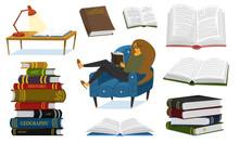 A Fan Of Books A Woman Is Sitt...