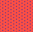 Vector minimalist geometric seamless pattern with small hexagons. Red and blue