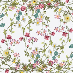 FototapetaFashionable pattern in small flowers. Floral background for textiles.