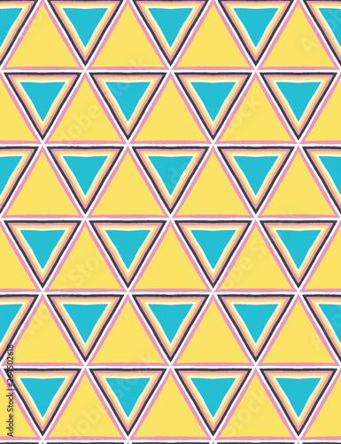 Geometric Retro Triangle Shape Seamless Pattern All Over