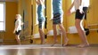 Children Doing Gymnastic Exercises in a Gym