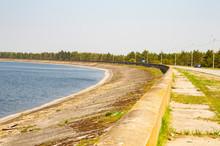 Water Horizon, Concrete Embankment Near The Water