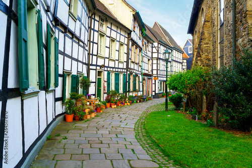 Old town Small backstreet in Hattingen Ruhr Germany
