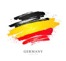 German Flag. Vector Illustration. Independence Day.