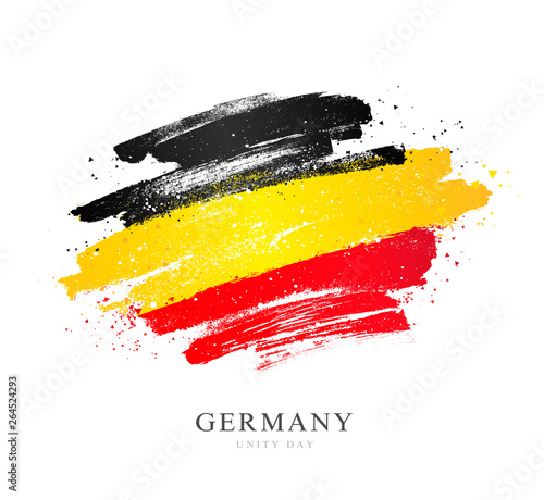 Cuadros en Lienzo German flag. Vector illustration. Independence Day.