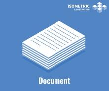 Document Icon. Pile Of Documen...