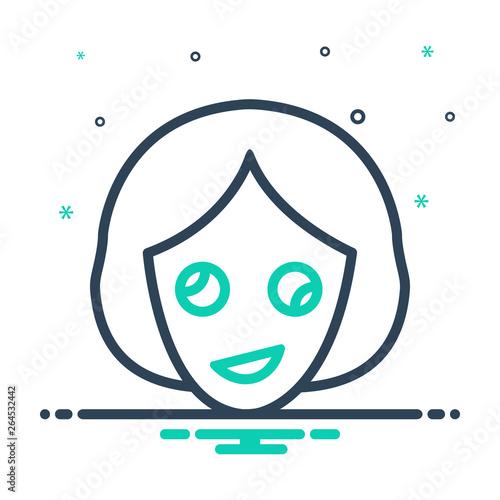 Obraz na plátne Mix line icon for oddity abnormality